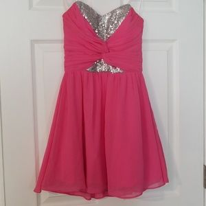 B Darlin size 3/4 hot pink and sequin party dress